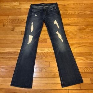 Women's 7 for all mankind, bootcut jeans. Size 27